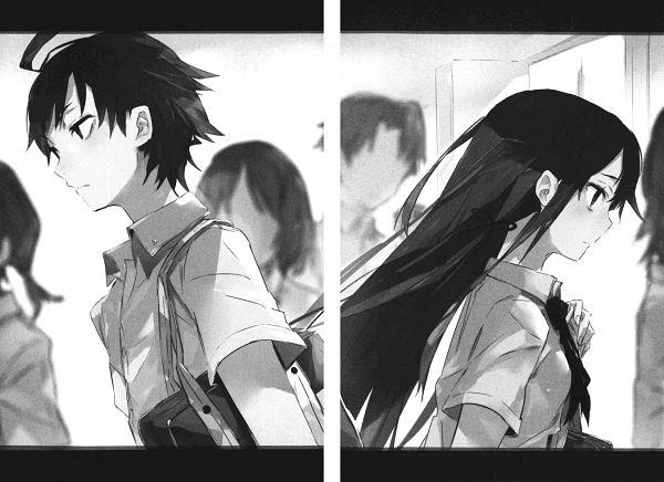 Tags: Anime, Ponkan Eight, Yahari Ore no Seishun Love Come wa Machigatteiru, Hikigaya Hachiman, Yukinoshita Yukino, Scan, Novel Illustration, Official Art, My Youth Romantic Comedy Is Wrong As I Expected