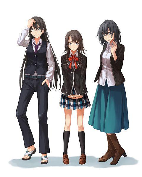 Tags: Anime, Pixiv Id 6995371, Yahari Ore no Seishun Love Come wa Machigatteiru, Hiratsuka Shizuka, Shiromeguri Meguri, Yukinoshita Haruno, Fanart From Pixiv, Pixiv, Fanart, My Youth Romantic Comedy Is Wrong As I Expected