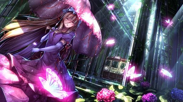 Tags: Anime, ryosios, Touhou, Yakumo Yukari, Revision, Fanart From Pixiv, Fanart, Pixiv, Facebook Cover, Yukari Yakumo