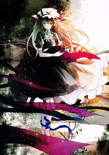 Tags: Anime, Kazu Muchuukai, Crescent (Artbook), Touhou, Yakumo Yukari, Scan, Mobile Wallpaper, Fanart, Yukari Yakumo