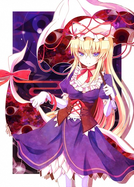 Tags: Anime, Kikugetsu, Touhou, Yakumo Yukari, Portal, Gap, Fanart, Mobile Wallpaper, Pixiv, Fanart From Pixiv, PNG Conversion, Yukari Yakumo