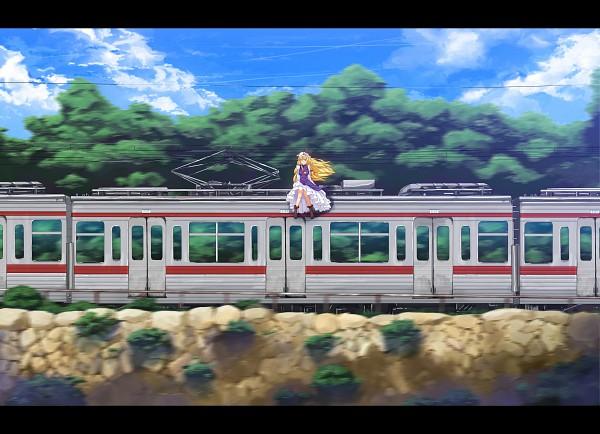 Tags: Anime, Kitada Ryouma, Touhou, Yakumo Yukari, Cliff, Fast Movement, Yukari Yakumo
