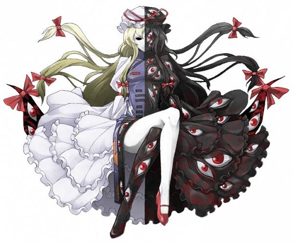 Tags: Anime, Mazeran, Touhou, Yakumo Yukari, Tabard, Persona (Parody), Gap, Portal, PNG Conversion, Yukari Yakumo