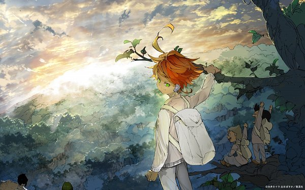 Tags: Anime, Demizu Posuka, Yakusoku no Neverland, Emma (Yakusoku no Neverland), Lannion, Thoma (Yakusoku no Neverland), Character Request, Scan, Official Art, The Promised Neverland