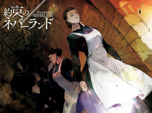 Tags: Anime, Demizu Posuka, Yakusoku no Neverland, Krone (Yakusoku no Neverland), Isabella (Yakusoku no Neverland), Official Art, Character Request, Scan, The Promised Neverland