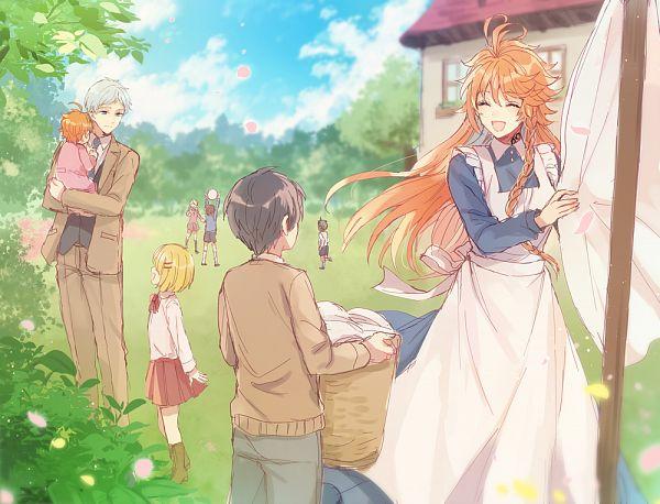 Tags: Anime, Murasaki (Annei), Yakusoku no Neverland, Norman (Yakusoku no Neverland), Emma (Yakusoku no Neverland), Pixiv, Fanart, Fanart From Pixiv, The Promised Neverland