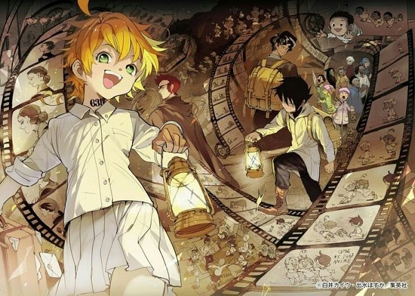 Tags: Anime, Demizu Posuka, Yakusoku no Neverland, Don (Yakusoku no Neverland), Yuugo (Yakusoku no Neverland), Gillian (Yakusoku no Neverland), Gilda (Yakusoku no Neverland), Nigel (Yakusoku no Neverland), Lucas (Yakusoku no Neverland), Ray (Yakusoku no Neverland), Sonia (Yakusoku no Neverland), Phil (Yakusoku no Neverland), Norman (Yakusoku no Neverland), The Promised Neverland