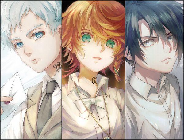 Tags: Anime, Xino, Yakusoku no Neverland, Ray (Yakusoku no Neverland), Norman (Yakusoku no Neverland), Emma (Yakusoku no Neverland), Fanart From Pixiv, Pixiv, Fanart, The Promised Neverland