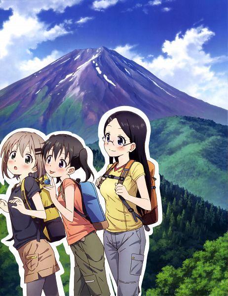 Tags: Anime, 8-bit (Studio), Yama no Susume, Kuraue Hinata, Yukimura Aoi, Saitou Kaede, Official Art, Scan, Encouragement Of Climb