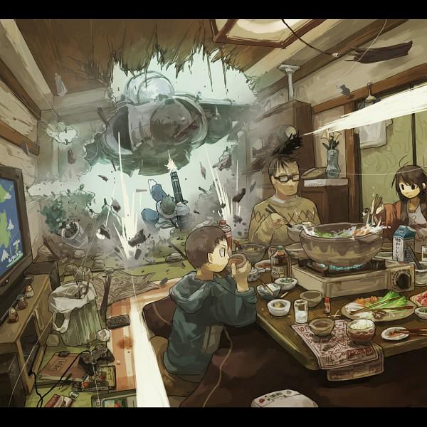 Tags: Anime, Yamaada, Sukiyaki, Kotatsu, Pixiv, Original