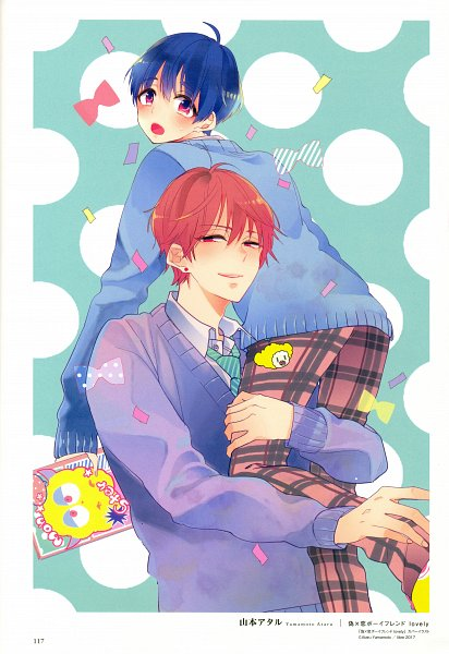 Tags: Anime, Yamamoto Ataru, Boys - Kami Zawa Artworks, Scan, Mobile Wallpaper, Self Scanned