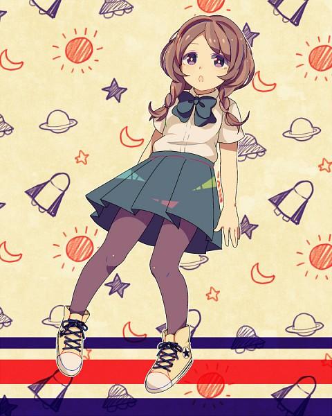 Tags: Anime, Pixiv Id 107180, Inazuma Eleven GO, Inazuma Eleven, Yamana Akane, Purple Legwear, Fanart, Fanart From Pixiv, Pixiv