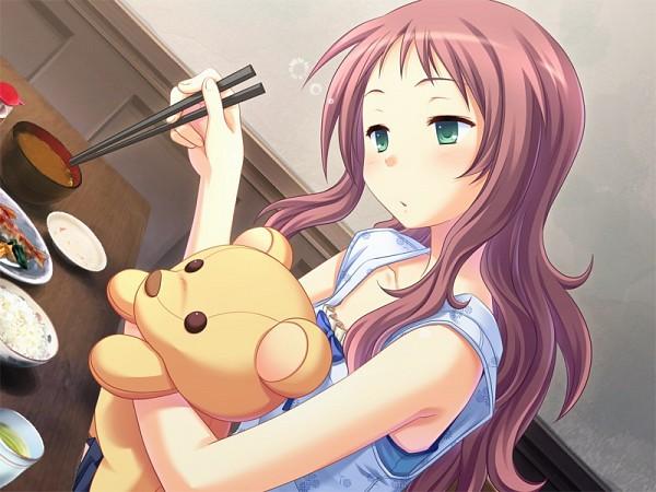 Tags: Anime, Hinata Terrace, Yamanaka Fumika, Hugging Toy, CG Art