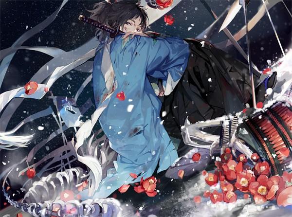 Tags: Anime, Nineo, Touken Ranbu, Yamato no Kami Yasusada, Kebiishi, Uchigatana, Pixiv, Fanart, Fanart From Pixiv