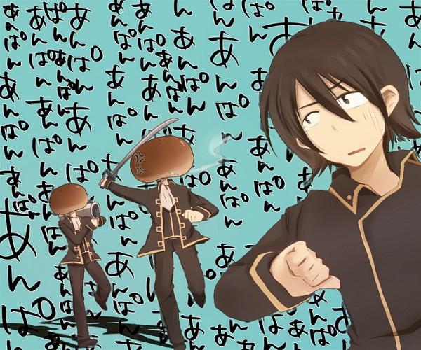 Tags: Anime, Pixiv Id 687011, Gintama, Hijikata Toushirou, Yamazaki Sagaru, Okita Sougo, Pixiv, Fanart
