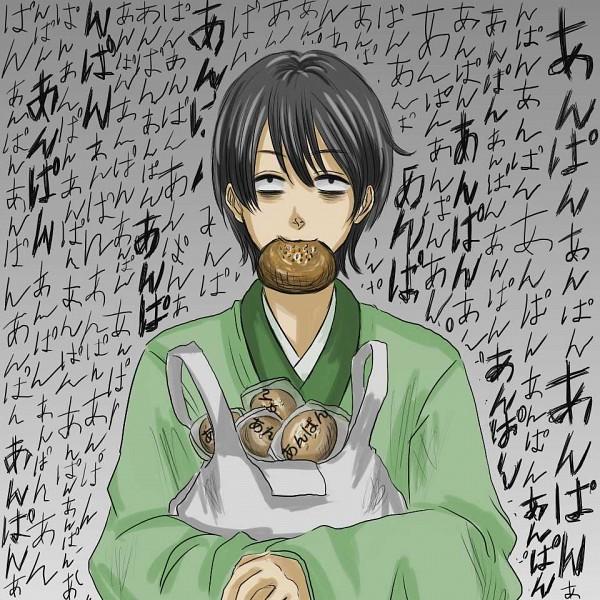 Tags: Anime, Pixiv Id 1405537, Gintama, Yamazaki Sagaru, Anpan, Pixiv, Fanart