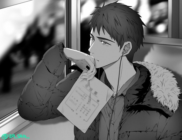 Tags: Anime, Pixiv Id 15805757, Free!, Yamazaki Sosuke, Earbuds, Fanart From Pixiv, PNG Conversion, Pixiv, Fanart
