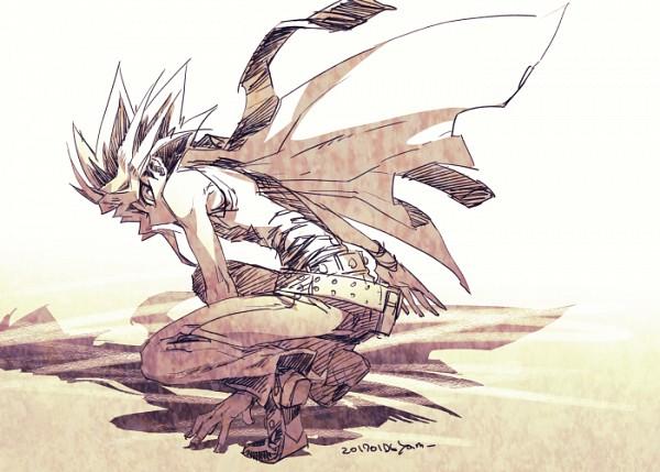 Tags: Anime, Pixiv Id 2075835, Yu-Gi-Oh! Duel Monsters, Yu-Gi-Oh!, Yami Yugi, Fanart From Pixiv, Fanart, PNG Conversion, Pixiv, Dark Yugi