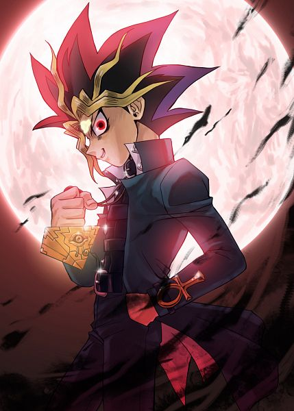 Tags: Anime, Raku623, Yu-Gi-Oh! Season Zero, Yu-Gi-Oh!, Yami Yugi, Eye (Symbol), Ankh (Object), Pixiv, Fanart, Mobile Wallpaper, Fanart From Pixiv