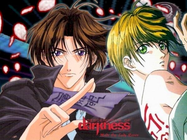 Tags: Anime, Matsushita Yoko, Yami no Matsuei, Kurosaki Hisoka, Tsuzuki Asato, Wallpaper, Official Art, Descendants Of Darkness