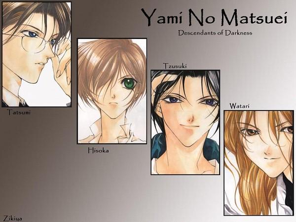 Tags: Anime, Yami no Matsuei, Tatsumi Seiichiro, Kurosaki Hisoka, Tsuzuki Asato, Watari Yutaka, Wallpaper, Descendants Of Darkness