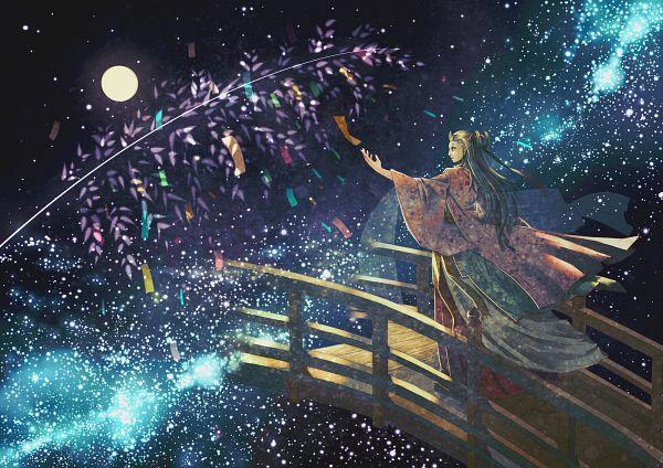 Tags: Anime, Yanagi Nikichi, Tanabata, Galaxy, Milky Way, Pixiv, Original