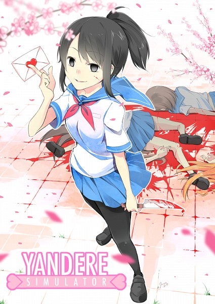Tags: Anime, Jowa, Yandere Simulator, Aishi Ayano, Blood On Weapons, Blank Stare, Love Letter, Mobile Wallpaper