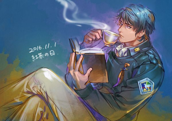 Tags: Anime, Pixiv Id 6441597, Ginga Eiyuu Densetsu, Yang Wen-li, Pixiv, Fanart, Fanart From Pixiv