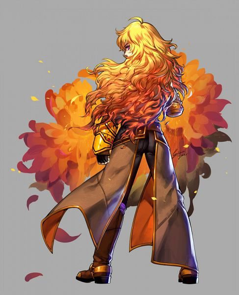 Tags: Anime, einlee, RWBY, Yang Xiao Long, Chrysanthemum, Cover Image, deviantART, Official Art