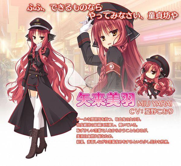 Tags: Anime, Muririn, Yuzusoft, Dracu-riot!, Yarai Miu, Official Art, Official Character Information