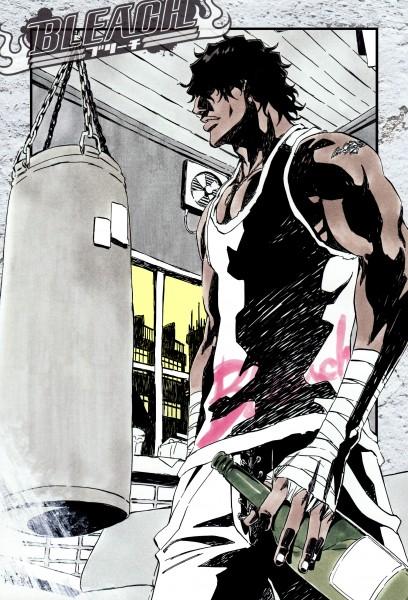 "Tags: Anime, Kubo Tite, BLEACH, Yasutora ""Chad"" Sado, Mobile Wallpaper, Official Art, Colorization"