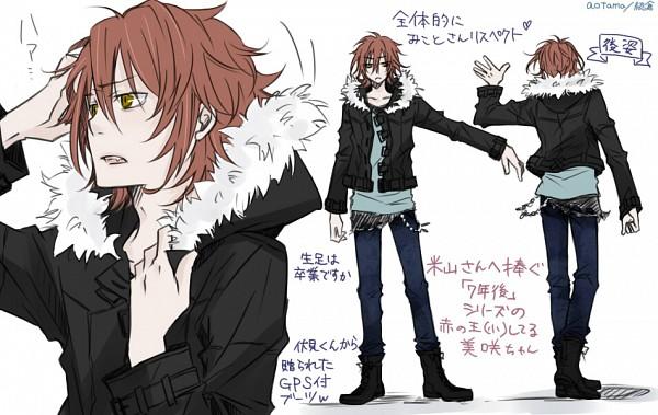 Tags: Anime, Pixiv Id 858096, K Project, Yata Misaki, Parka, Fanart From Pixiv, Pixiv, Character Sheet, Sketch, Fanart