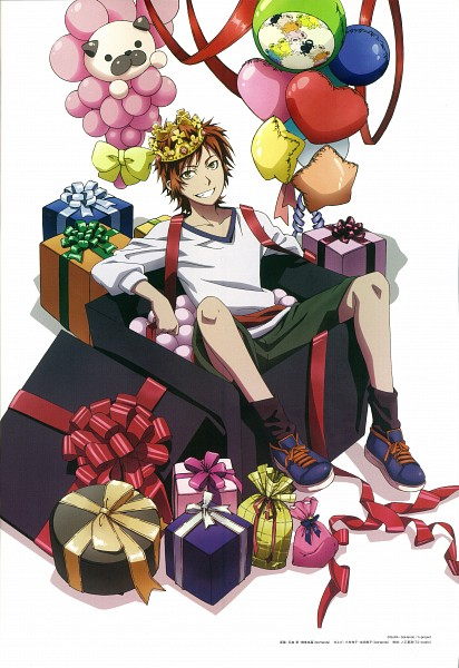 Tags: Anime, GoHands, K Project, Yata Misaki, Hot Air Balloon, Balloon Animal, Magazine (Source), PASH!, Scan, Mobile Wallpaper, Official Art