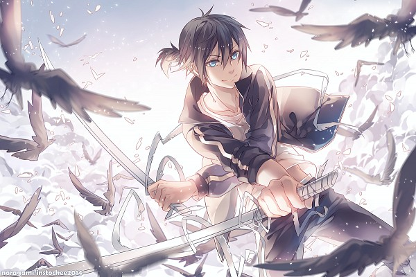 Tags: Anime, INstockee, Noragami, Yato (Noragami), Black Bird, Fanart From Pixiv, Pixiv, PNG Conversion, Fanart, Fanart From DeviantART, deviantART