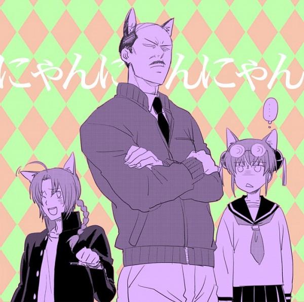 Tags: Anime, Pixiv Id 340743, Gintama, Umibouzu (Gin Tama), Kamui (Gin Tama), Kagura (Gin Tama), Fanart From Pixiv, Fanart, 3z, Pixiv, Yato Clan