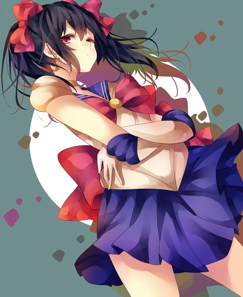 Tags: Anime, Pixiv Id 7690963, Love Live!, Yazawa Niko, Sailor Moon (Character) (Cosplay), Nico Yazawa