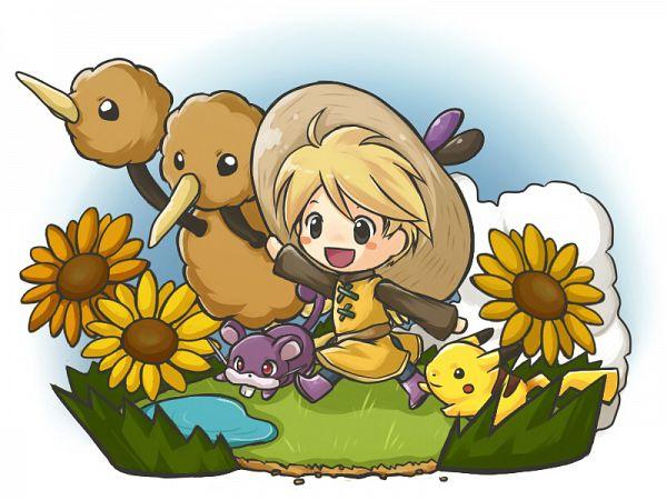 Tags: Anime, Koemi, Pokémon SPECIAL, Pokémon Red & Green, Pokémon, Chuchu (Pokémon), Rattata, Doduo, Yellow (Pokémon Special), Pikachu, Wallpaper