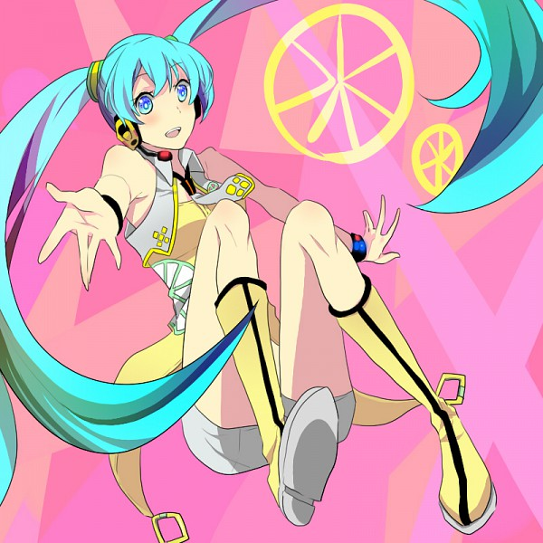 Tags: Anime, VOCALOID, Hatsune Miku, Yellow (Song), Project DIVA Yellow