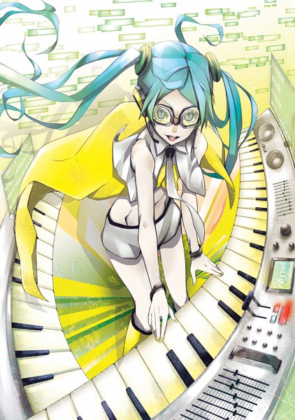 Tags: Anime, Nitto, Project DIVA 2nd, VOCALOID, Hatsune Miku, Fanart, Project DIVA Yellow, Mobile Wallpaper, Yellow (Song)