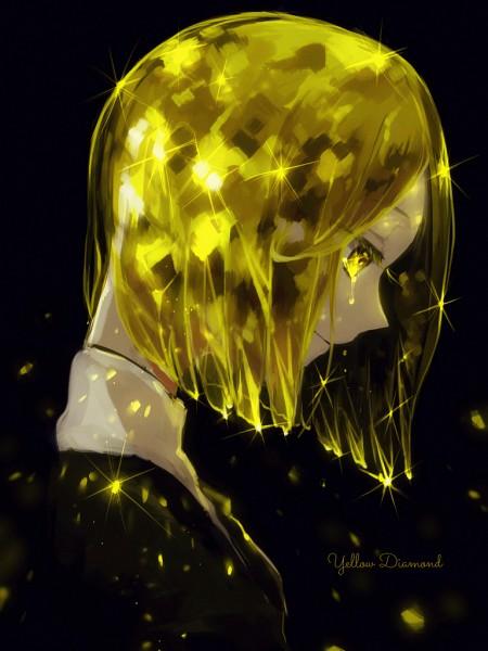 Tags: Anime, Kyanarinu, Houseki no Kuni, Yellow Diamond, Pixiv, Fanart, Fanart From Pixiv, Mobile Wallpaper