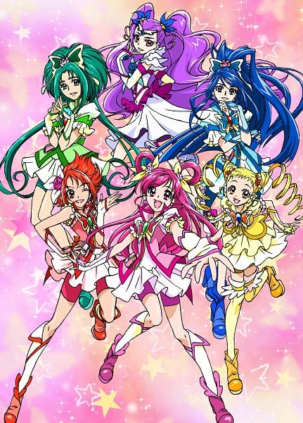 Tags: Anime, Kawamura Toshie, Yes! Precure 5, Cure Aqua, Minazuki Karen, Cure Lemonade, Cure Mint, Natsuki Rin, Mimino Kurumi, Milky Rose, Yumehara Nozomi, Cure Rouge, Kasugano Urara