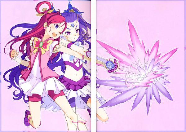 Tags: Anime, Kuroboshi Kouhaku, Yes! Precure 5, GRANADA LEVEL P, Mimino Kurumi, Cure Dream, Yumehara Nozomi, Milky Rose, Fanart, Scan