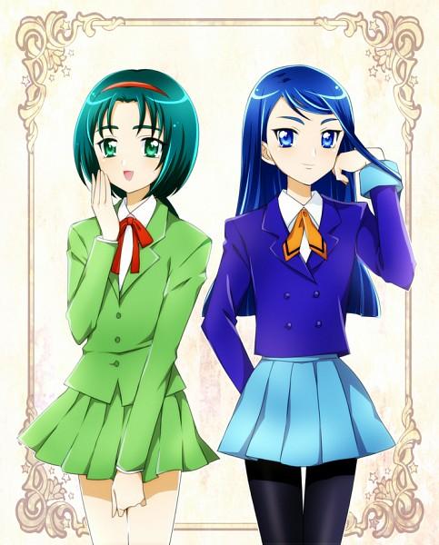 Tags: Anime, Kagamichihiro, Yes! Precure 5, Minazuki Karen, Akimoto Komachi, Hououji Fuu (Cosplay), Ryuuzaki Umi (Cosplay), Fanart From Pixiv, Fanart, Pixiv