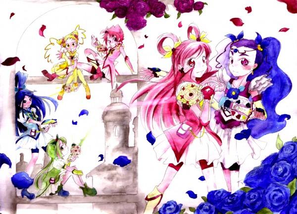 Tags: Anime, Pixiv Id 248916, Yes! Precure 5, Minazuki Karen, Cure Rouge, Cure Mint, Natsuki Rin, Cure Dream, Milky Rose, Yumehara Nozomi, Cure Lemonade, Kasugano Urara, Akimoto Komachi