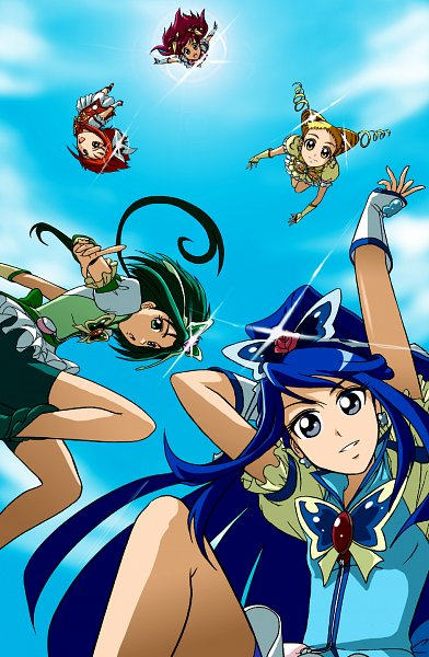 Tags: Anime, Kakki, Yes! Precure 5, Minazuki Karen, Cure Aqua, Natsuki Rin, Cure Lemonade, Cure Mint, Yumehara Nozomi, Cure Rouge, Kasugano Urara, Cure Dream, Akimoto Komachi
