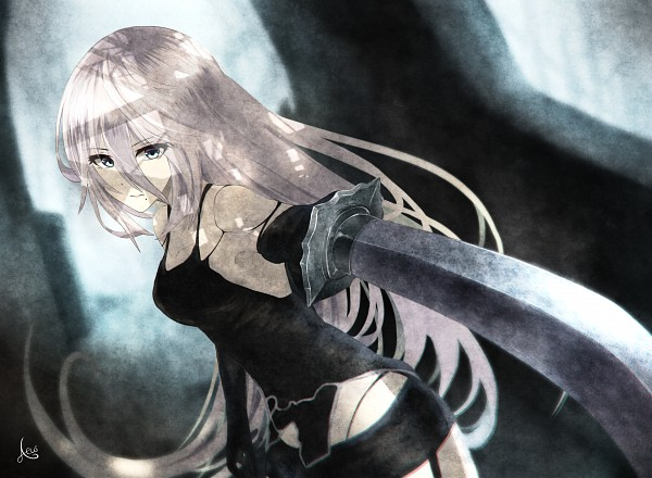 Tags: Anime, Aeus, NieR: Automata, YoRHa Type A No.2, Light And Dark, Contrast, Dynamic, CG Art, PNG Conversion, Fanart, Enhance, Revision, deviantART