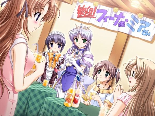 Tags: Anime, August (Studio), Yoake Mae yori Ruriiro na, Mia Clementis, Asagiri Mai, Feena Fam Earthlight, Sayaka Hozumi, Takamizawa Natsuki, CG Art, A Brighter Blue Than That Before The Dawn