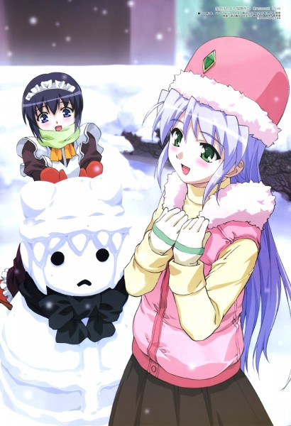 Tags: Anime, Watanabe Yoshihiro, Daume, Megami #81 2007-02, Yoake Mae yori Ruriiro na, Mia Clementis, Feena Fam Earthlight, Official Art, A Brighter Blue Than That Before The Dawn