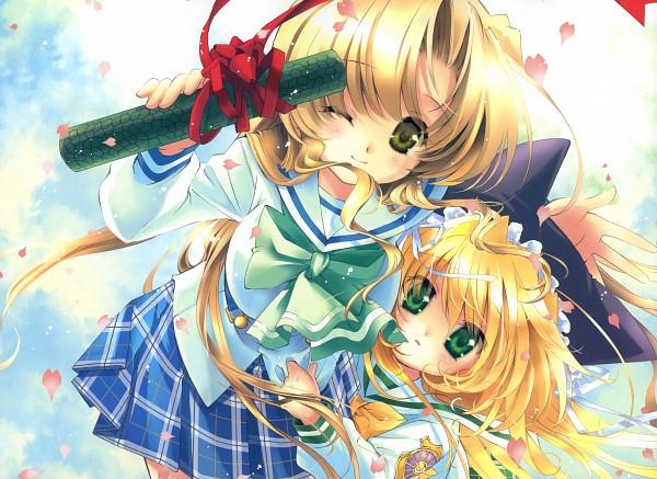 Tags: Anime, Mitaonsya, August (Studio), Four Seasons Memorial 2005-2010 Calendar, Yoake Mae yori Ruriiro na, Wreathlit Noel, Sayaka Hozumi, Graduation, Scan, Calendar (Source), A Brighter Blue Than That Before The Dawn