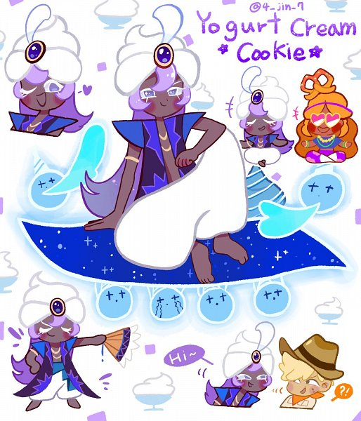 Tags: Anime, 4jin7, Cookie Run: OvenBreak, Cookie Run, Adventurer Cookie, Yogurt Cream Cookie, Yoga Cookie, Twitter, Fanart